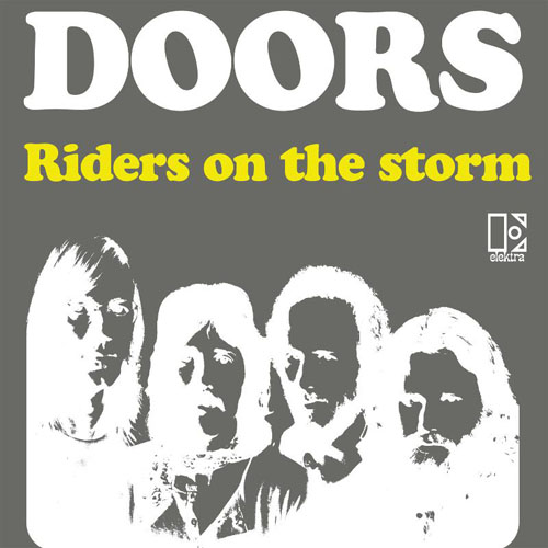 rielaborazione della copertina del singolo  Riders On The Storm / Changeling  - Germania 1976  sc 1 st  The Doors & First Flash Of Eden - L.A Woman